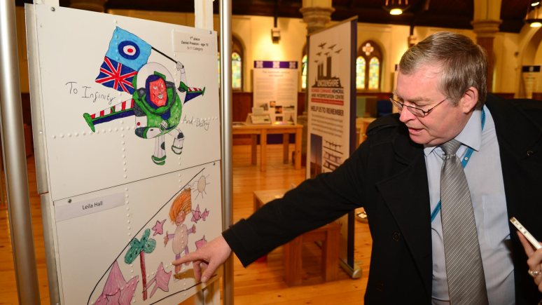 Dave Harrigan of Aviation Heritage Lincolnshire at the Lincoln Nose Art Display. Photo: Steve Smailes for The Lincolnite