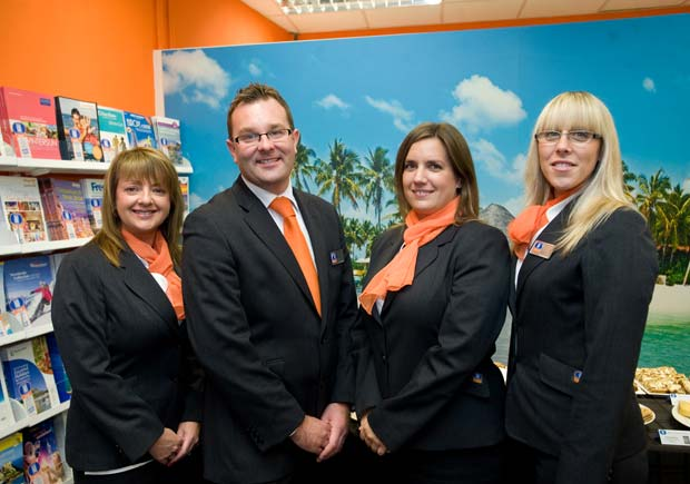 The team at the Lincolnshire Co-op Boston Travel branch, which joined the business in 2013.  (L-R): Ashley Cilek, Zane Ground, Jodie Limb and Lizzie Brackenbury.
