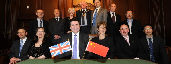 Chinese guests join city representatives at the Guildhall. Photo: Stuart Wilde