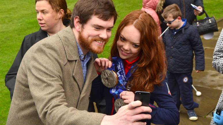 Jade's fans got in of the 'selfie' action. Photo: Steve Smailes for The Lincolnite