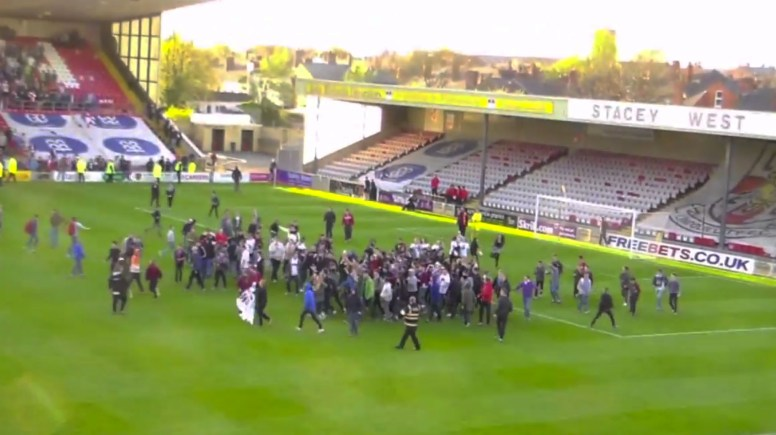Lincoln Pitch Invasion