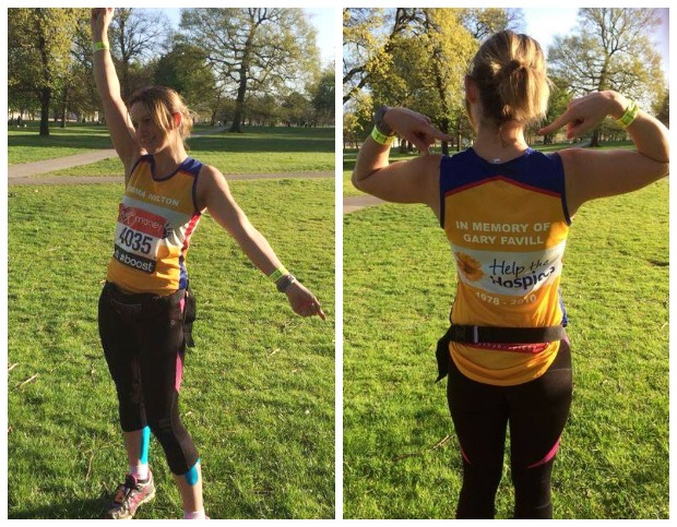 Emma Hilton ran the London Marathon in memory of her friend Gary Favill.