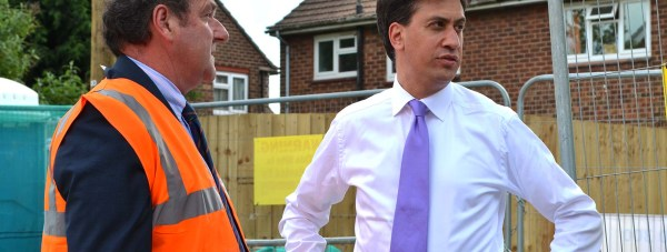 Labour leader Ed Miliband was given a tour of the new Stapleford Avenue housing project when he visited Lincoln. Photo: Emily Norton