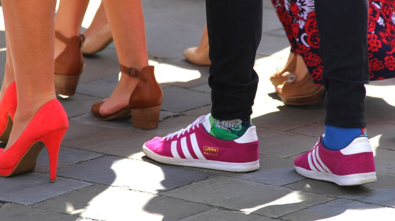 Bright colours and odd socks was the preferred dress code for the service.
