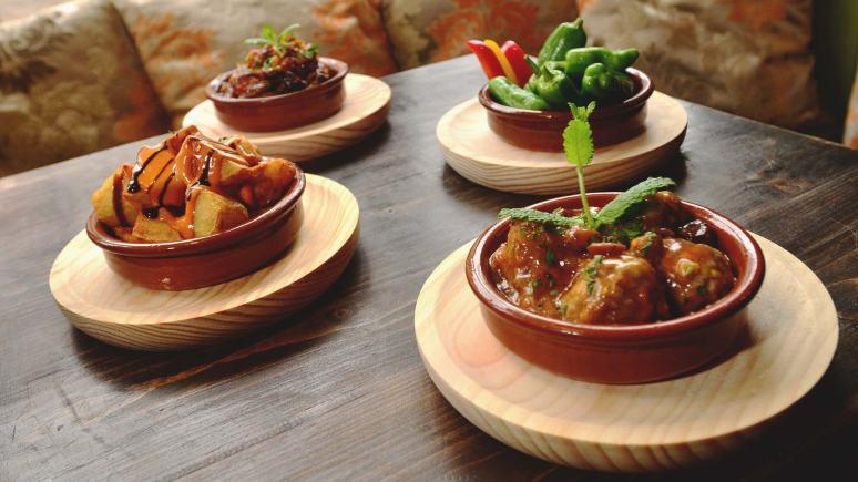 Hot tapas dishes at Olivares in Lincoln. Photo: Steve Samiles for The Lincolnite