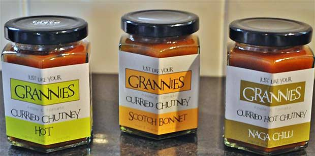 A variety of chutneys David has on offer.