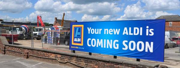 The new Lincoln Aldi store will open on October 2. Photo: Steve Smailes for The Lincolnite
