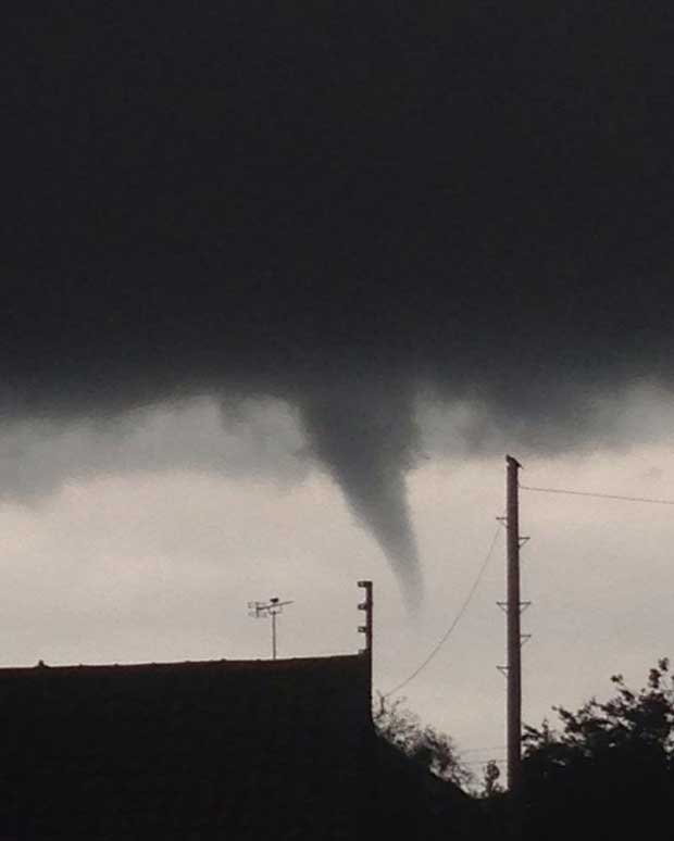 John Ringer was working in Crowland when he spotted the funnel cloud.