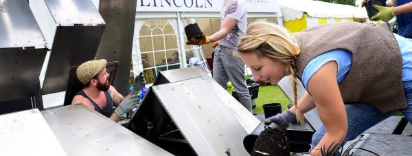 The interactive Twitter garden from the University of Lincoln will be at the show this year. Photo: Steve Smailes for The Lincolnite