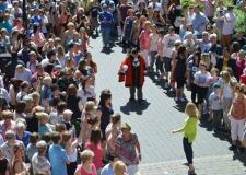 Mayor of Lincoln's Flashmob for charity. Photo: CoLC