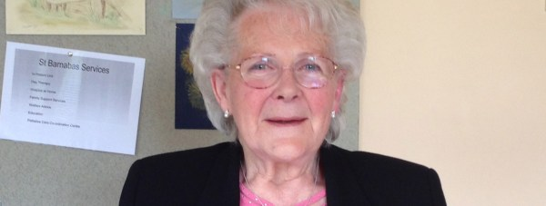 73-year-old Cathy Poulton is thanking St Barnabas Lincolnshire Hospice for their support.