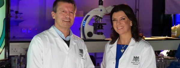 Mark Baron with Doctor Dawn from the popular Embarrassing Bodies TV show. Photo: UoL