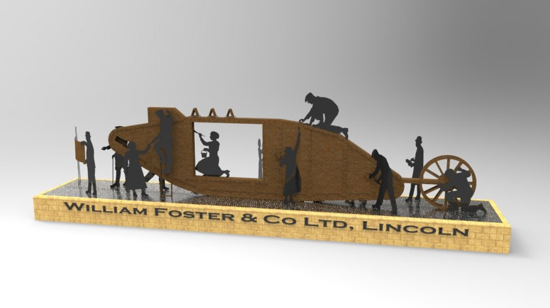 The final designs for the Lincoln Tank Memorial.