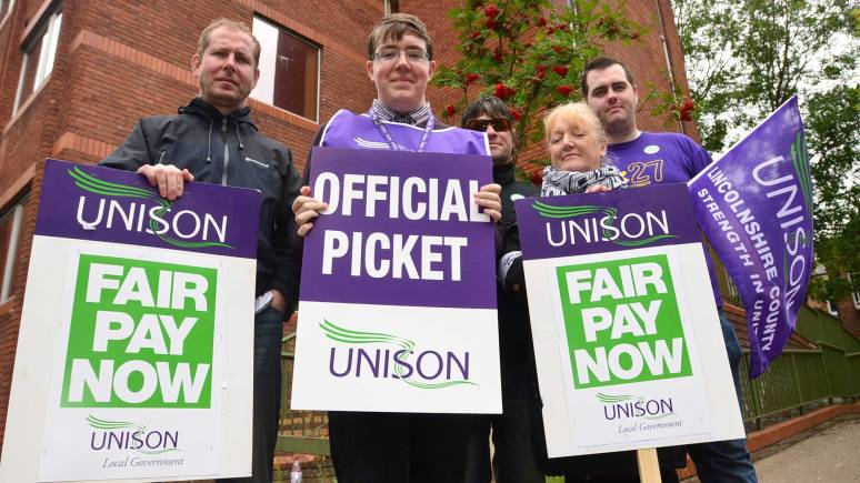 In pictures: Lincoln public sector workers strike