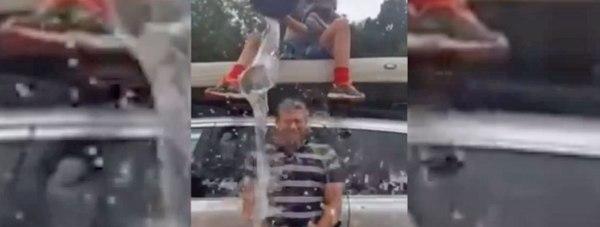 Lincoln MP Karl McCartney doing the Ice Bucket Challenge