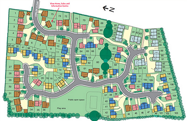 The Jubilee Park site consists of 110 new properties.