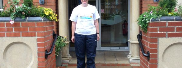 St Barnabas Lincolnshire Hospice Chief Executive Sarah-Jane Mills is getting ready to walk the Lincoln boundary with MP Karl McCartney.