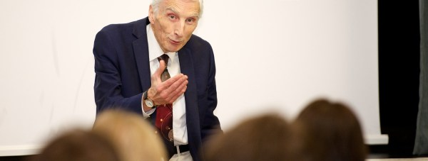 Astronomer Royal Lord Martin Rees opened the new £300,000 laboratory at William Farr School.