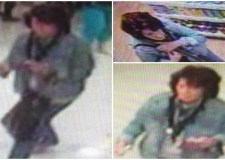 Police are looking for a woman captured on CCTV taking and elderly lady's money from an ATM.