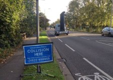 Lincolnshire Police appealing for information at the spot of the fatal collision Photo: Becca Wlkinsn