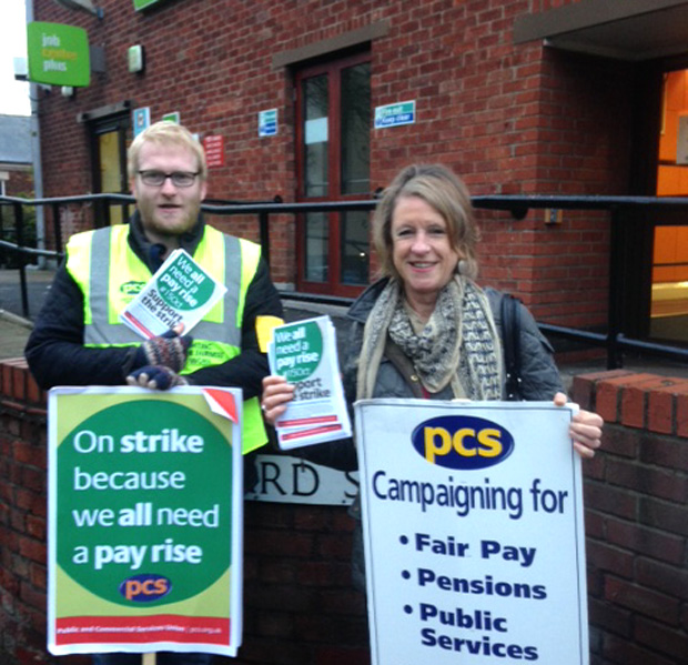 PCS strikes in Lincoln are park of a national strike for fair pay.
