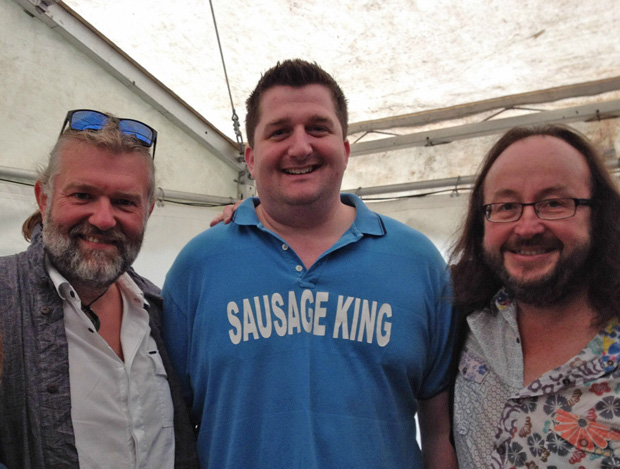 Sausage King Stephen Plume with the Hairy Bikers