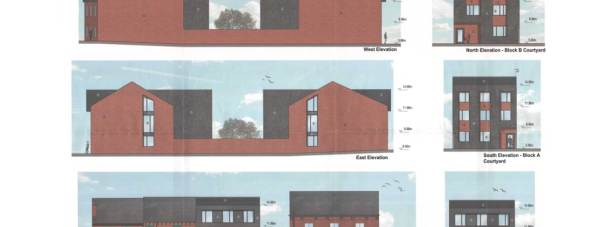 Plans for the student apartments on Tentercroft Street in Lincoln