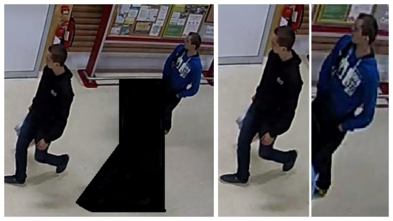 Police would like to speak to the two men show in connection with a Lincoln robbery.