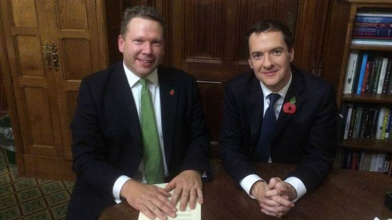 Karl McCartney with George Osbourne