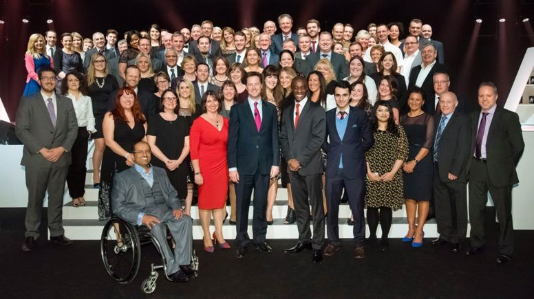 Employers of the Top 100 Apprenticeship Employers list at this year's National Apprenticeship Awards.