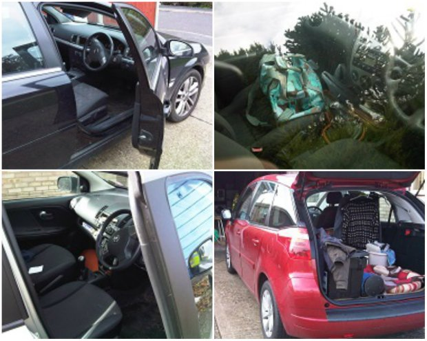 Lincolnshire Police officers on patrol took photos of the cars left uncooked or with valuables on display.