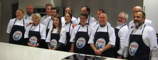 Finalist and Norwegian chefs during the Norway study trip.