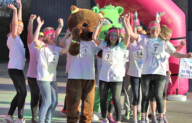 The team from St Barnabas Lincolnshire Hospice will host the county's first Colour Dash alongside Running Imp. Photo: St Barnabas