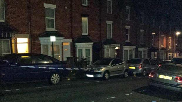 Police cordoned off the area around the incident on Arboretum Avenue in Lincoln on Monday night.