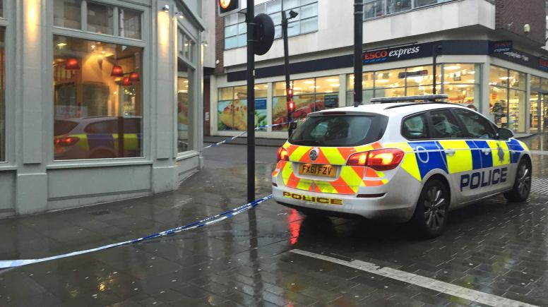A section of the High Street was cordoned off by police on the morning of Wednesday, January 28.
