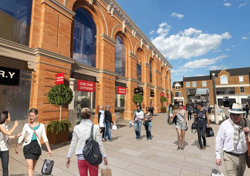 Modern extensions to the Corn Exchange are currently being demolished, allowing views of the new facades from the High Street.