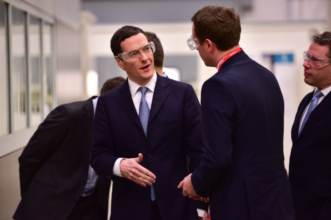 Chancellor George Osborne at the Siemens Teal Park Facility in Lincoln. Photo: Steve Smailes for The Lincolnite