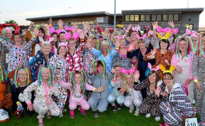 The St Barnabas One Night in  a Onesie event in 2014. Photo: Steve Smailes for The Lincolnite
