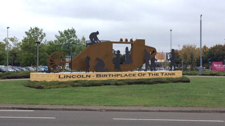 The latest designs for the Lincoln Tank Memorial, which will be unveiled on May 10.