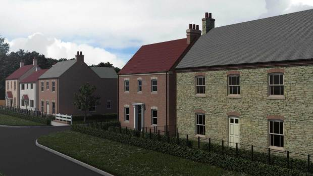 An artist's impression of how the new estate will look.