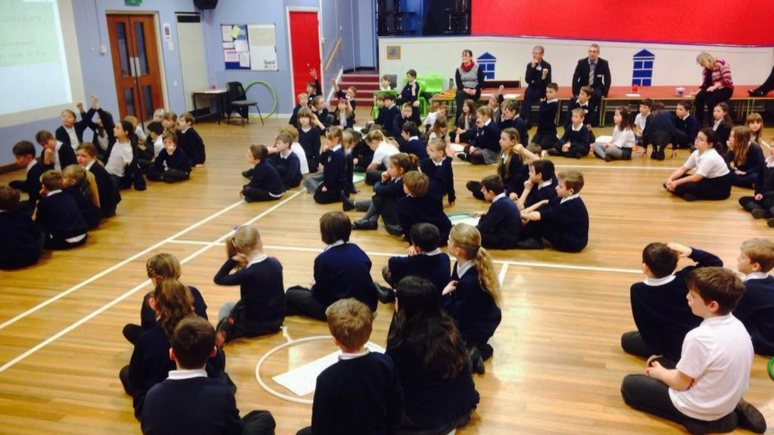 Pupils at Washingborough Academy holding their own Parliament
