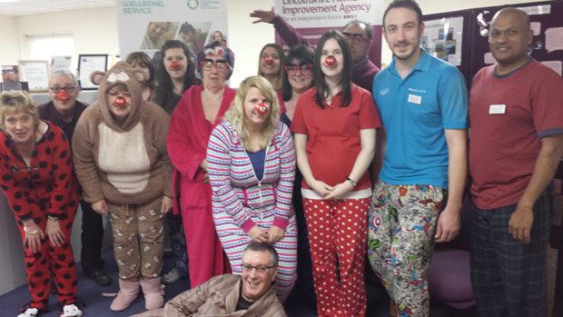 The Lincolnshire Home Improvement Agency wellbeing service team hosted a pyjama party for comic relief.