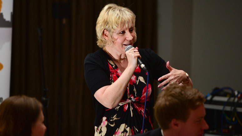 Jan Jack of the Laughter-Comedy Club gave a very entertaining performance. Photo Steve Smailes for The Lincolnite