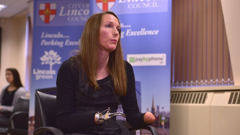 Disabled rights campaigner Helen Dolphin at City of Lincoln Council. Photo Steve Smailes for The Lincolnite