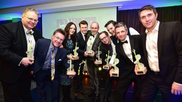 All the award winners celebrating at the first Lincolnshire Digital Awards ceremony. Photo: Steve Smailes for Lincolnshire Business