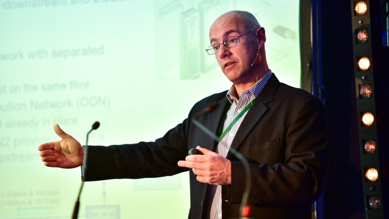Ian Hawkins from BT introduced the new Ultrafast Broadband. Photo: Steve Smailes - The Lincolnite