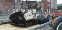 Work underway to install the East West Link road on from Tentercroft Street. Photo: Lincolnshire County Council
