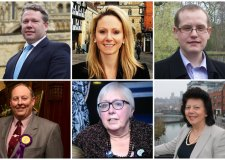 The six parliamentary candidates for the Lincoln MP seat in the 2015 general election.