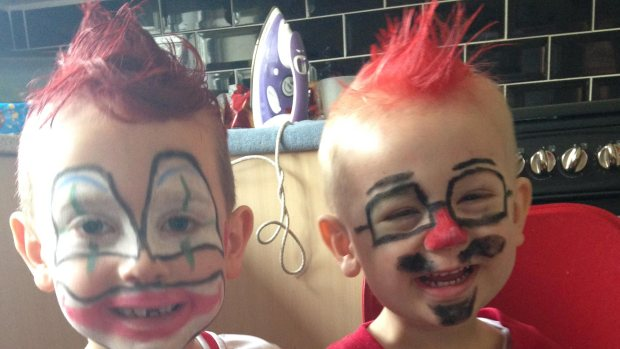 A special red hair day for six-year-old Henley and two-year-old Blayke