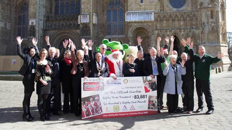 The 2014 Santa Fun Run raised £83,681 for deserving causes. Photo Running Imp